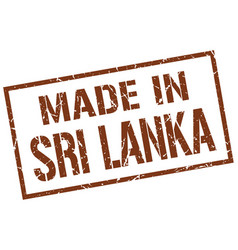 Made in sri lanka stamp vector