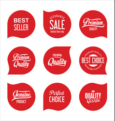 Modern sale badges collection vector