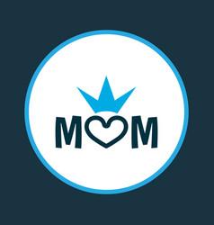 Mum icon colored symbol premium quality isolated vector