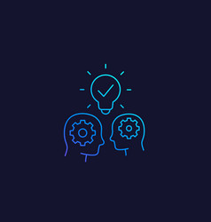 People with ideas innovators and thinkers icon vector