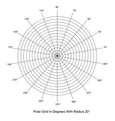 polar grid in degrees vector image