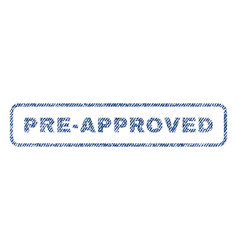 Pre-approved textile stamp vector