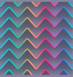 rainbow waves seamless pattern vector image