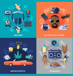 rap music flat concept vector image