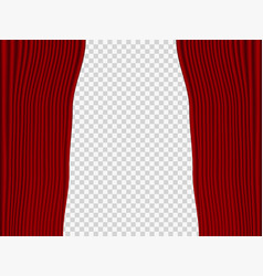 red curtains theater drape vector image