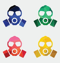 respirator icon Abstract Triangle vector image