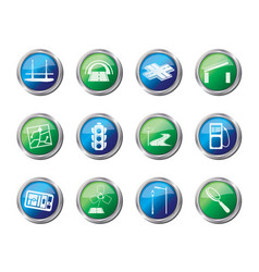 Road navigation and travel icons vector
