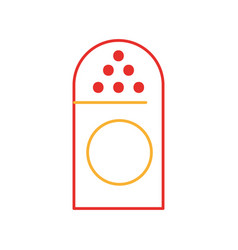 salt shaker isolated icon vector image