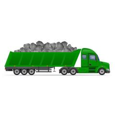 Semi truck trailer concept 10 vector