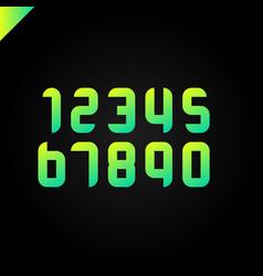 Sport numbers set logo design template round vector