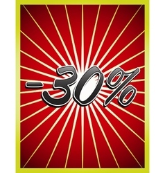 Stylish Big Sale poster banner or flyer design vector