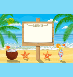 summer seaside poster vector image