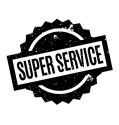 super service rubber stamp vector image