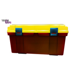 Tool box red and yellow color side view realistic vector