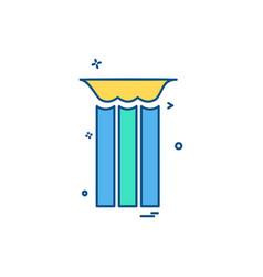 trash icon design vector image