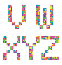 v w x y z alphabet letters from children vector image