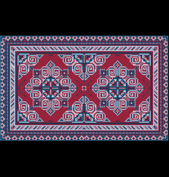Vintage carpet with claret and different shades vector