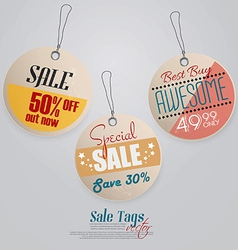 vintage Pricing Tags 2 vector image