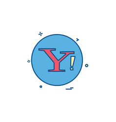 Yahoo social icon design vector