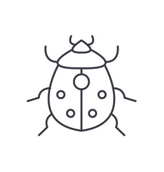 bug line icon sign on vector image