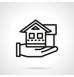 Line icon for rental house agency vector image vector image