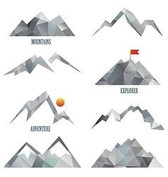 Mountain icon sets vector image