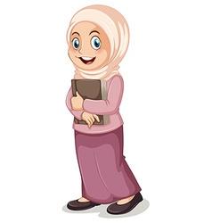 Muslim girl vector image vector image