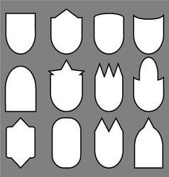 Set of shield line vector image vector image
