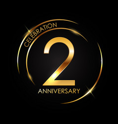 template 2 years anniversary vector image