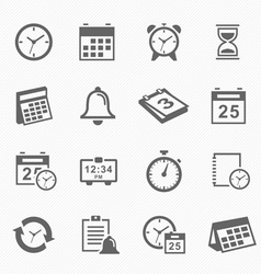 Time and Schedule stroke symbol icons set vector image vector image