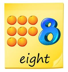 Eight oranges vector image