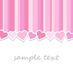 pink valentine day greeting card background vector image