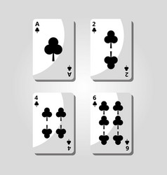 poker clover cards game risk fortune icon vector image