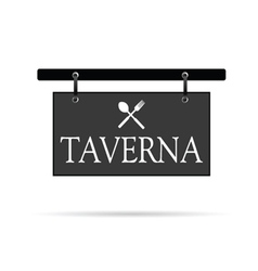 signboard for taverna vector image vector image