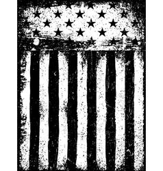 Stars and Stripes Monochrome Negative Photocopy vector image