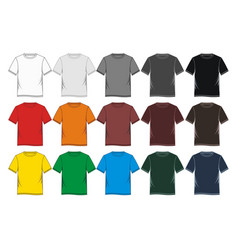 t-shirt template blank vector image vector image
