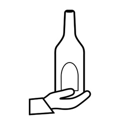 Winne bottle beverage vector image vector image