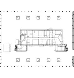 wire-frame abstract archticture vector image vector image