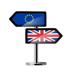 Brexit British referendum concept sign vector image vector image