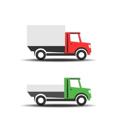 Delivery trucks icons vector image vector image