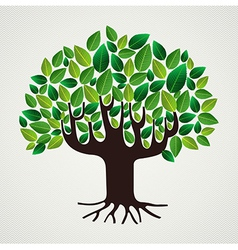 Nature care concept leaves tree vector image vector image
