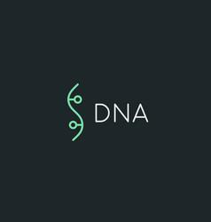Bio dna logotype linear medicine science lab vector