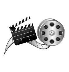 color clapper board film and film production icon vector image