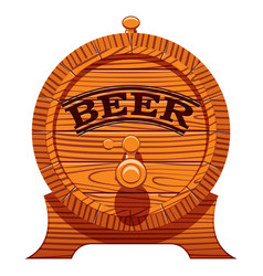 color with a cask of beer vector image vector image