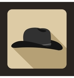 Cowboy hat icon flat style vector image vector image