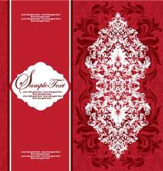 damask floral card vector image vector image