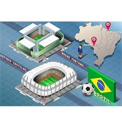 Isometric Stadium of Cuiaba and Fortaleza Brazil vector image vector image