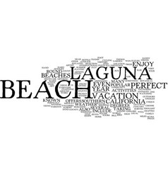 laguna beach california text background word vector image vector image