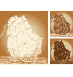 old ships vector image