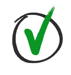 vote or approved check mark hand drawn vector image